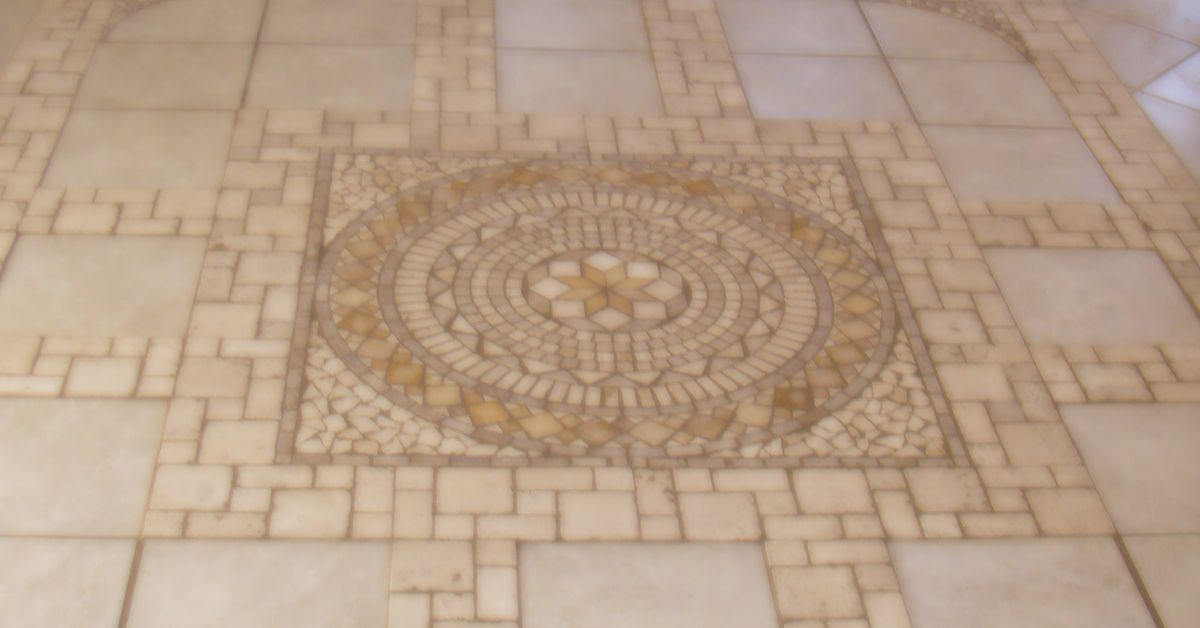 This is a heated stone tile floor in a sun room. I laied this floor ...
