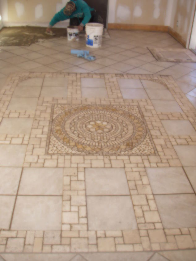 This is a heated stone tile floor in a sun room. I laied this ...