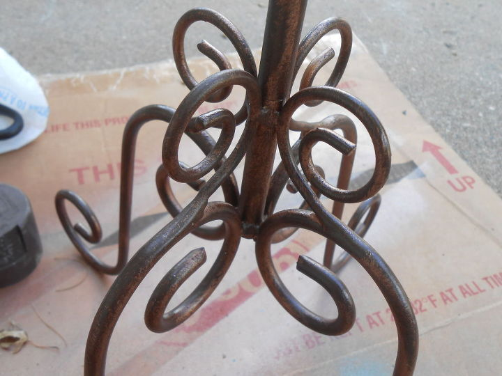 how to spary paint faux copper patina, container gardening, gardening, repurposing upcycling