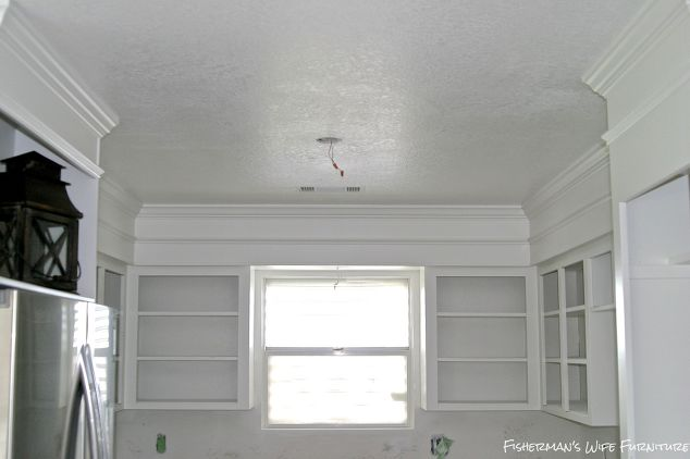 Small Roof Above Kitchen Cabinet