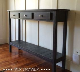 Table Console Farmhouse Faux Drawer, Diy, Painted Furniture, Rustic  Furniture, Woodworking Projects