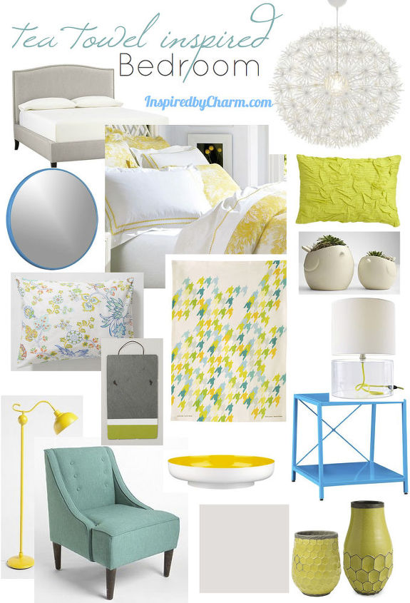 Tea Towel Inspired Bedroom