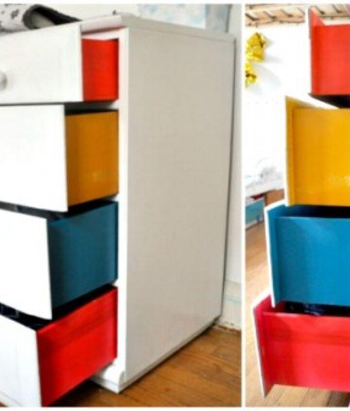 DIY Color Block Dresser