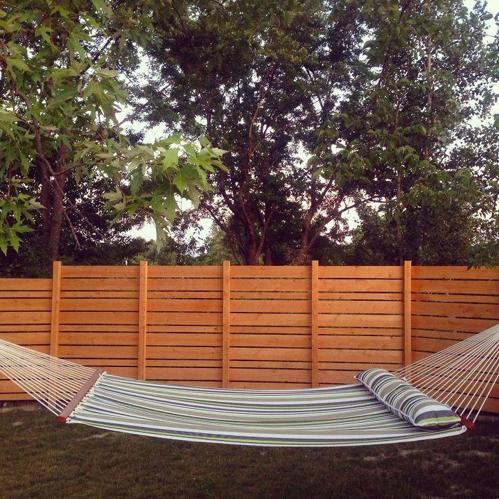 DIY Wooden Backyard Fence