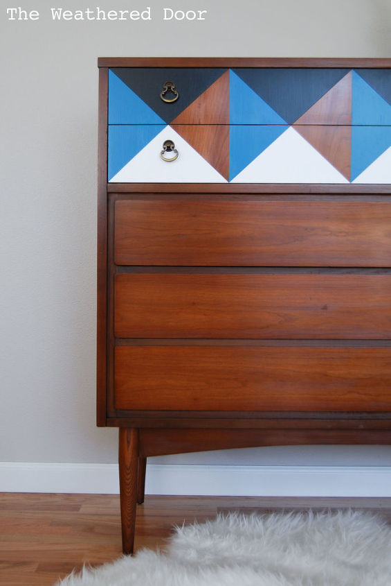 Refreshed wood and a geometric design