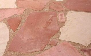 q flagstone patio help, concrete masonry, diy, patio, Flagstone Patio finished product