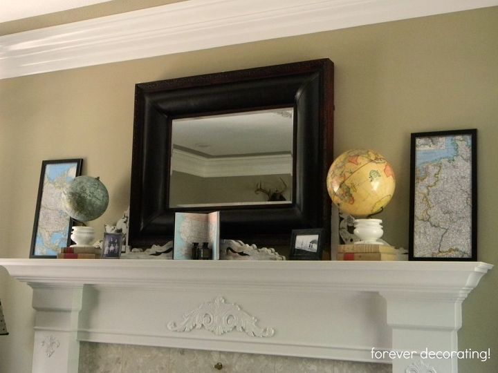 I put these globes on the fireplace mantel.