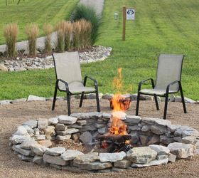 Backyard Ideas Fire Pit Stone Budget, Concrete Masonry, Landscape, Outdoor  Living, The