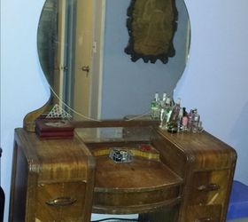 Staining Wood Vanity Vintage Renew, Painted Furniture