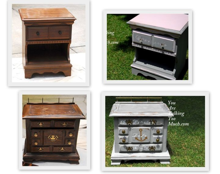 two thrift store end tables transformed to end tables that are now fit for a, painted furniture