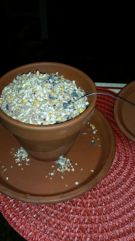 garden ideas clay pot bird feeder, crafts, gardening