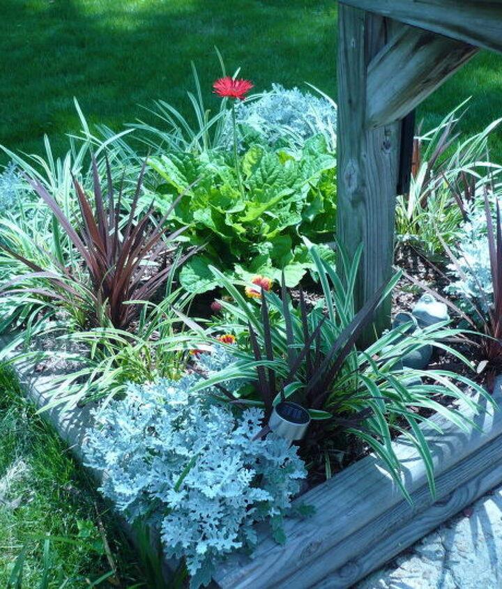 Maintenance free flower bed around mailbox!