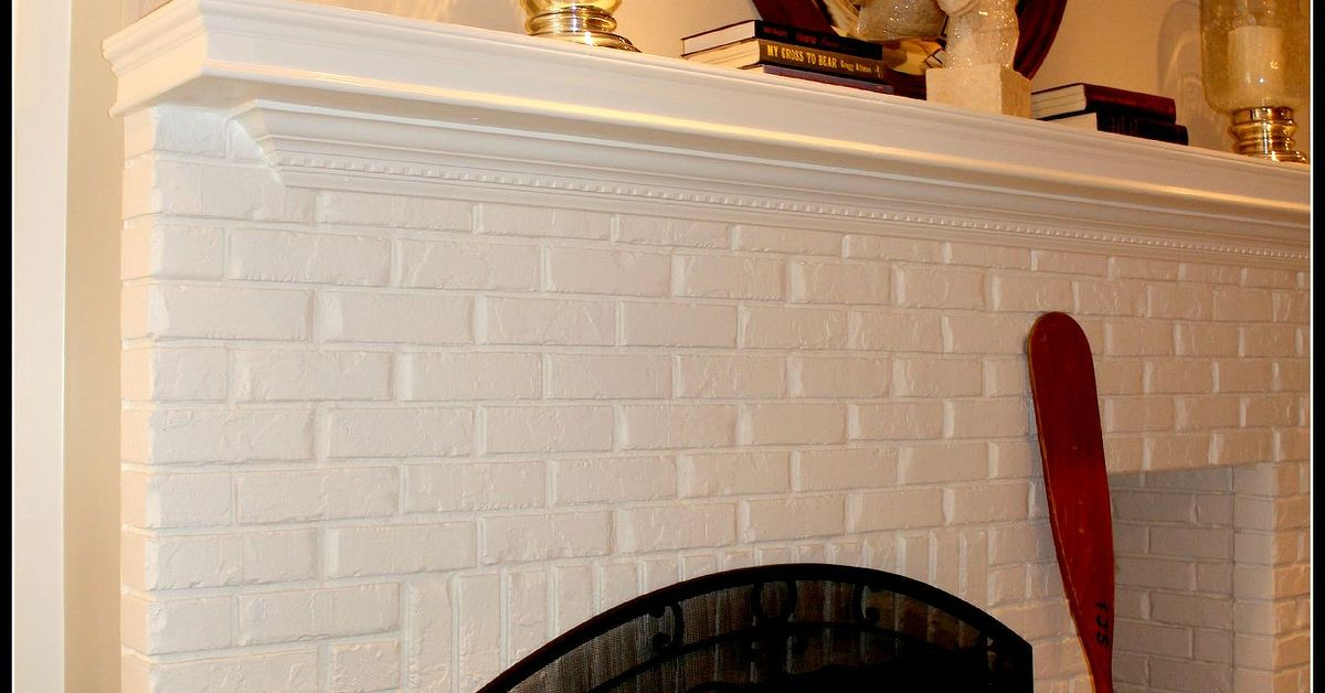 Painting Brick Fireplace White Hometalk