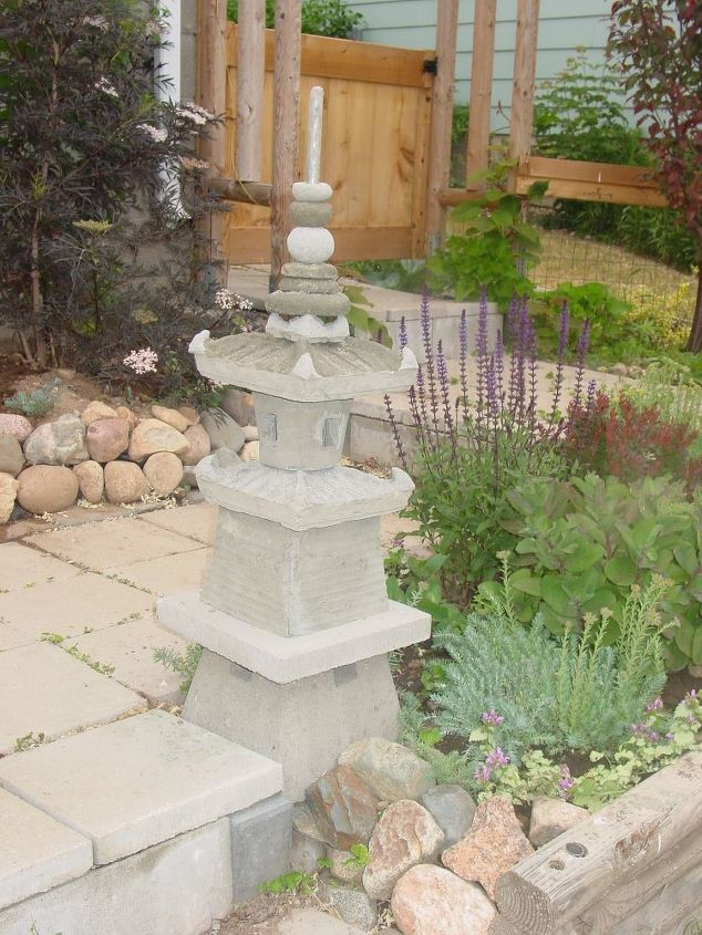 The Japanese garden pagoda I built by using plastic plant pots and ...