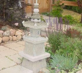 The Japanese Garden Pagoda I Built By Using Plastic Plant Pots And Cement.  | Hometalk