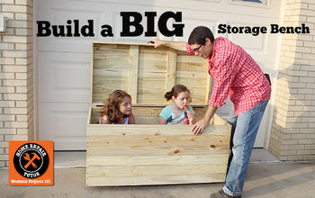 Build a BIG Outdoor Storage Bench