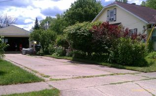 hubby landscaped both sides of driveway, gardening, landscape, Before