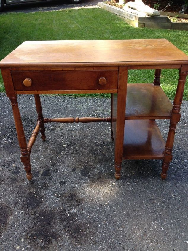 Painted Furniture Desk White Wood