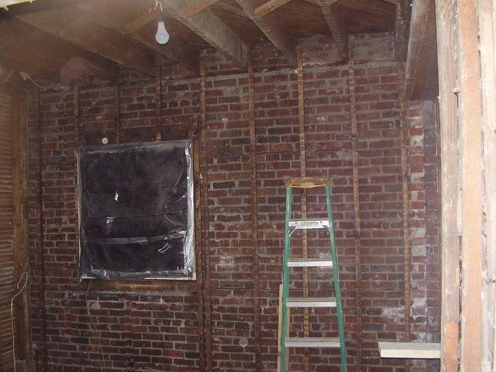 kitchen renovation, decks, home improvement, kitchen design, Down to studs From ceiling to floor