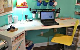 craft room reveal, craft rooms, home decor, organizing