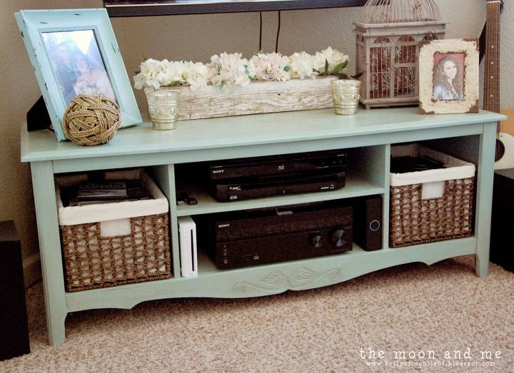 painted furniture tv console aintique entertainment center home decor painted furniture repurposing upcycling - Painted Tv Consoles
