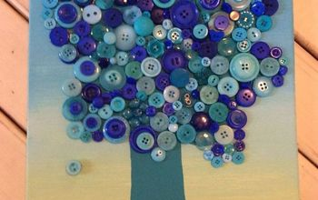 crafts button tree tutorial kids, crafts
