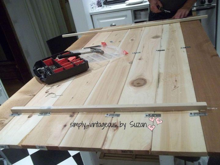 kitchen island planks addition redo, countertops, diy, kitchen design, kitchen island, painted furniture, woodworking projects