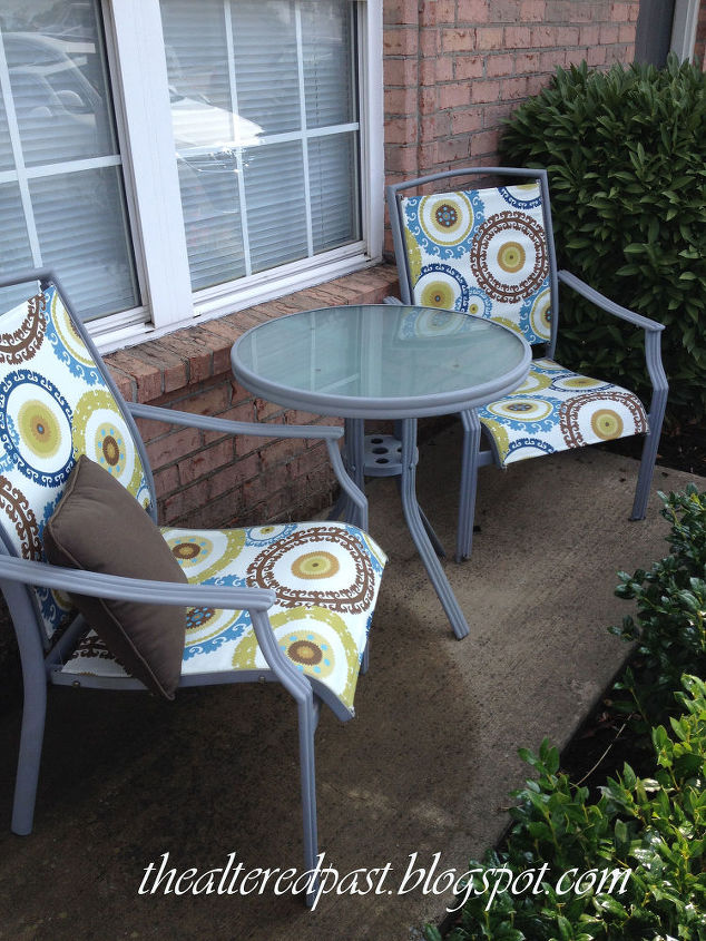 outdoor furniture redo chair tables budget, outdoor furniture, painted  furniture - Redo Patio Sling Chairs For Under $25 Hometalk