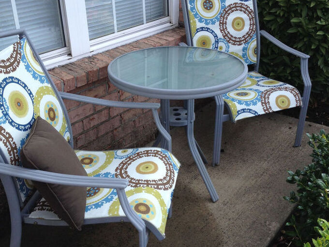 outdoor furniture redo chair tables budget, outdoor furniture, painted furniture