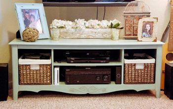 Make a TV Console From an Old Entertainment Center