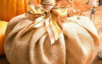 how to burlap pumpkin decor, crafts, seasonal holiday decor