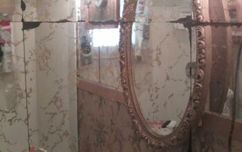 I would love to cover the mirror tiles that are in my VERY SMALL bathroom.