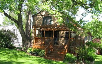 Our cedar deck and backyard..