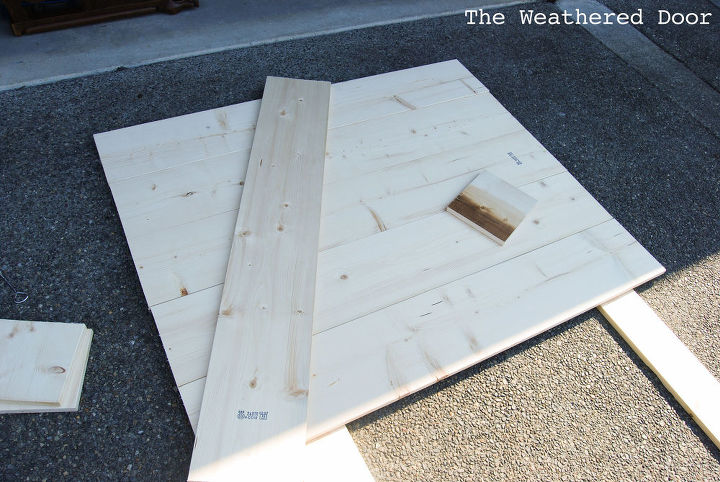 Laying out and building the headboard.