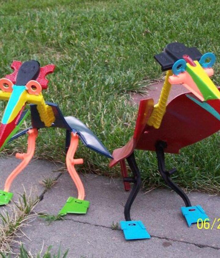 yard art, gardening, repurposing upcycling