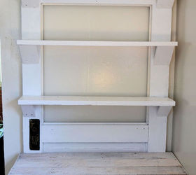 New Use For An Old Door, Doors, Home Decor, Pallet, Shelving Ideas