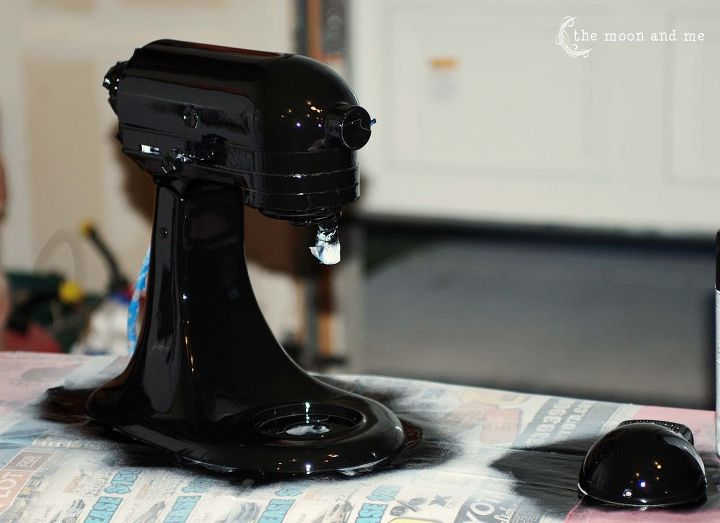 spray paint kitchenaid mixer makeover, appliances, home decor, kitchen design