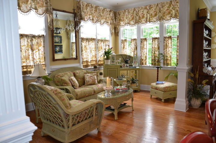 breakfast room turned sunroom keeping area, dining room ideas, home decor