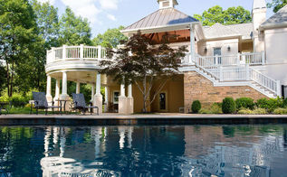 pool house and outdoor living project, home decor, outdoor living, pool designs