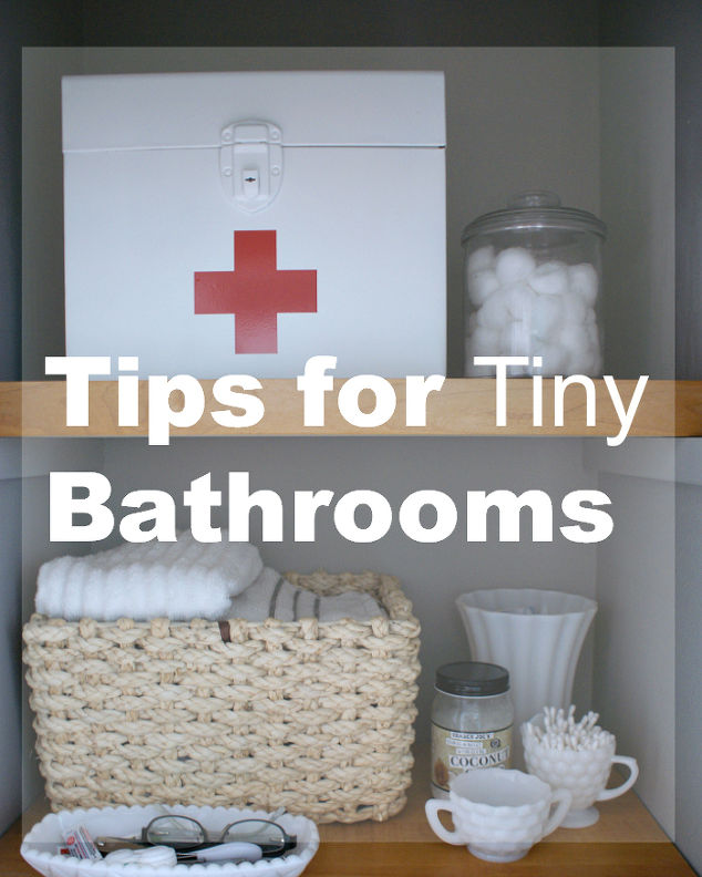 Tips For Tiny Bathrooms Hometalk - Tiny bathroom ideas for small bathroom ideas
