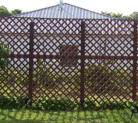 fences lattice privacy wall planks wood fences painting