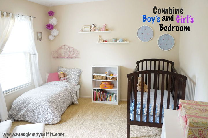bedroom ideas combining boys girls rooms, bedroom ideas, wall decor