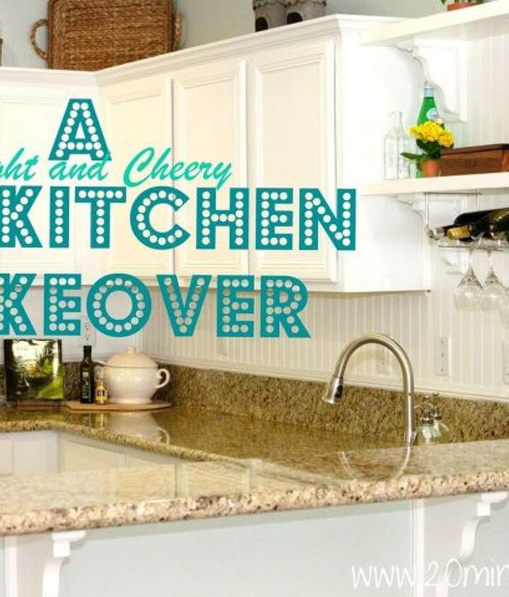 DIY Kitchen Makeover: White and Bright! http://www.20minutemom.com/2012/05/diy-kitchen-remodel-from-builder-to.html