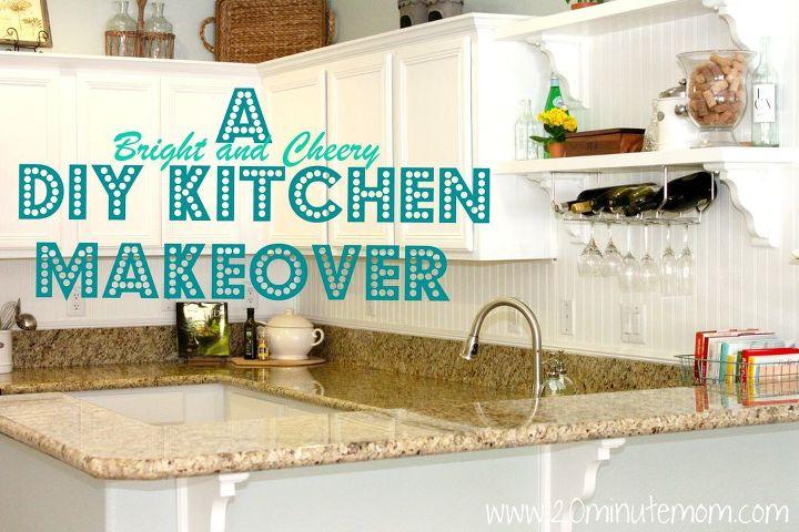 diy kitchen makeover from builder grade to bright and cheery, home decor, kitchen backsplash, kitchen design, DIY Kitchen Makeover White and Bright