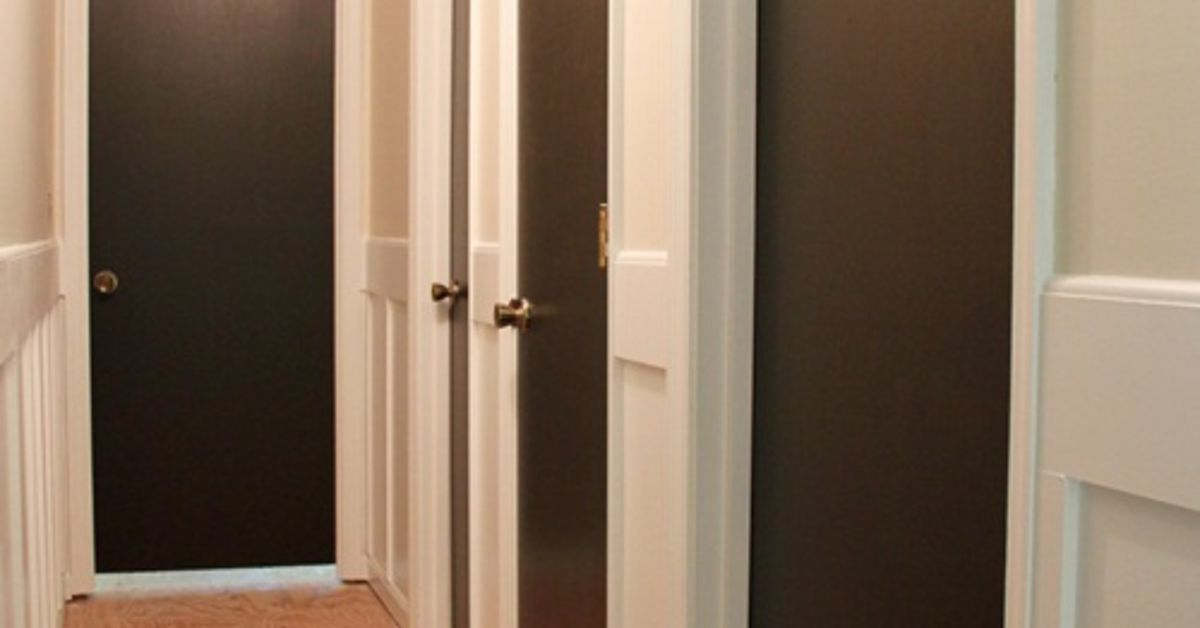 Painting interior doors dark brown black hometalk for Paint for doors interior