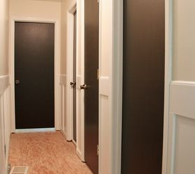 Attractive Painting Interior Doors Dark Brown Black, Doors, Home Decor, Painting
