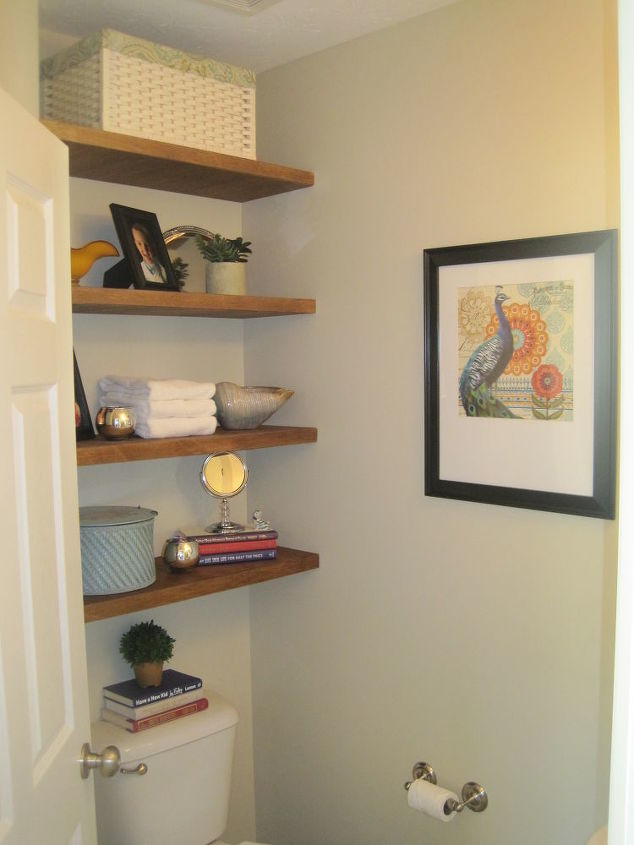 Storage in Small Half Bathroom | Hometalk