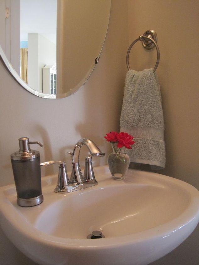storage in small half bathroom, bathroom ideas, diy, how to, shelving ideas, storage ideas, urban living