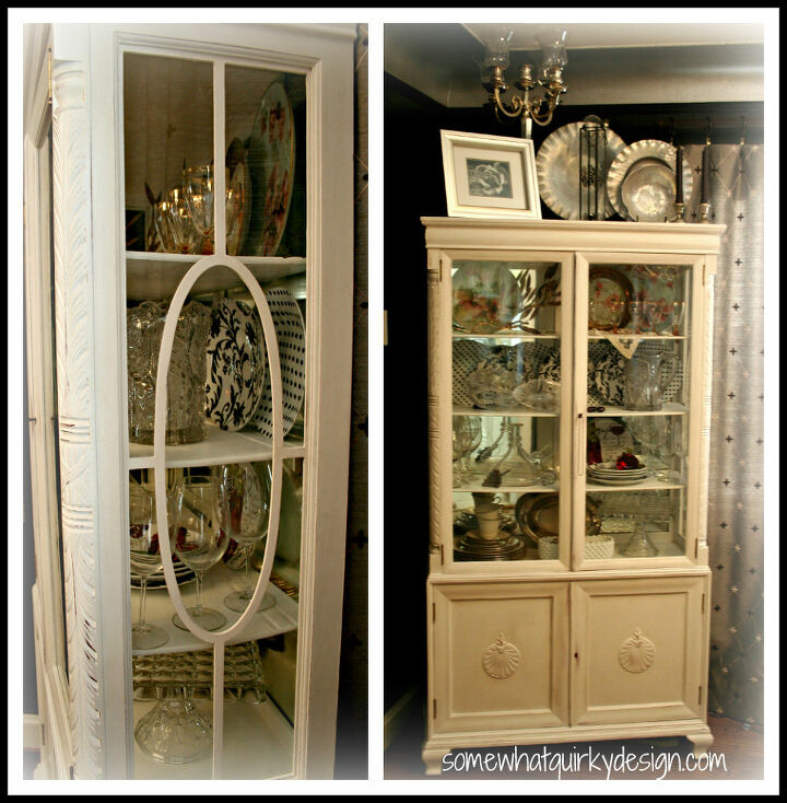 after countless hours of work i finally finished making over my china cabinet, kitchen cabinets, painting, Done Done Done