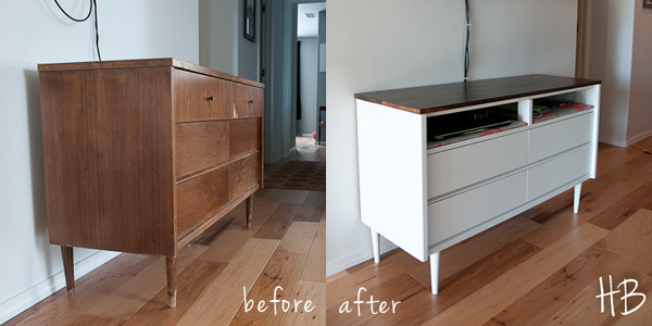 Revamping a mid century modern chest of drawers into a Revamp old kitchen cabinets